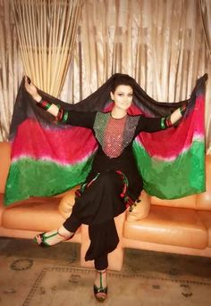 #afghan #style #dress #colors