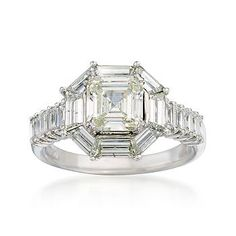 Vintage 3.18 ct. t.w. Diamond Ring In 18kt White Gold.