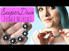 Easy, Fast Super Duo/Twin Bead Flower Necklace #Seed #Bead #Tutorials
