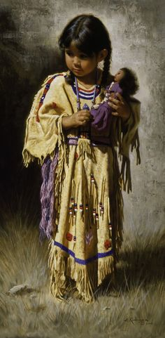 Alfredo Rodriguez American Indian Art - I had to pin this - I just love it Native Child, Native American Children, Native American Beauty, American Indian Art, Native American History, American Indians, American Girl, Native American Paintings, Native American Pictures