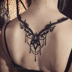 Image result for lace tattoos on back