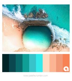 Coral Colour Palette, Sunset Color Palette, Sunrise Colors, Color Palate, Ocean Colors, Colours, Wall Colors, Chameleon Color, Good Color Combinations