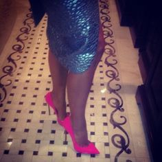 not a kim k fan but need some hot pink heels in my life!