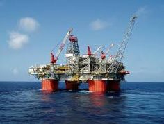 Oil platform in the Gulf on Mexico
