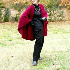 Burgundy Anti Pill Fleece Wrap, Shawl, Shrug, Cape or Blanket Scarf--One Size Fits Many by YoungbearDesigns on Etsy