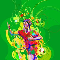 Martin Sati illustration for McDonalds World Cup