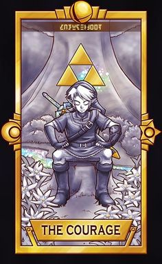 Link, The Courage card. Those flowers (even though I've drawn them poorly, huhuhu ) are Edelweiss flowers. ============================= For more Super Smash Tarot Cards,  The Legend Of Zelda, Super Smash Bros, Twilight Princess, Creepypasta Anime, Manga, Pokemon, Nintendo Characters, Link Zelda, Fan Art