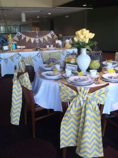 @Courtney Baker Pembleton- Tea Party decor. Luv the way the ties are done!