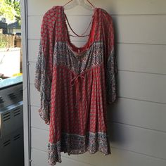 Free People Dress Most gorgeous dress EVER FP IN RED, white & blue's! Dress is in PERFECT CONDITION Free People Dresses Midi