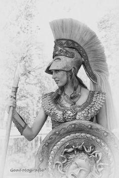 Pallas Athena costume by Susan Broers. Worn at Elf Fantasy Fair Haarzuilens (Netherlands). Picture taken by Gea van Lohuizen.