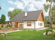 projekt domu C333b Miarodajny - wariant II - Murator projekty A Frame House, Home Fashion, House Plans, How To Plan, House Styles, Dream Houses, Home Decor, Architecture, Houses
