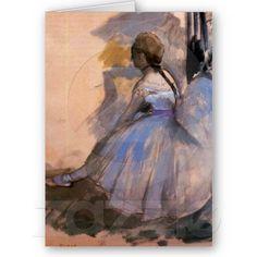 "Edgar Degas ""Dancer Seated"" BLANK Note Card"