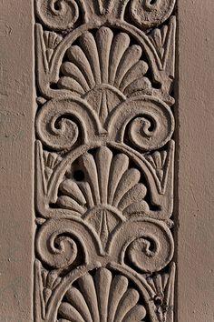 Detail of palmette decoration around shopfront, Egyptian Halls, Union Street, Glasgow Pooja Door Design, Alchemy Art, Antique Chinese Furniture, Warehouse Design, Architectural Sculpture, Different Art Styles, Iranian Art, Indian Art Paintings, Celtic Symbols