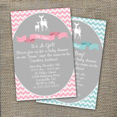 Oh Deer Baby Shower Invitation Itu0027s A Boy Or By WorldOfThought