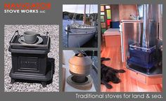 Traditional Cast Iron Marine Stoves by Navigator Stove Works,Inc.