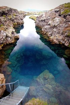 Silfra, Iceland. -- One of the clearest waters in the world for diving and snorkeling