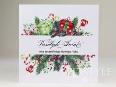 Biznesowe kartki świąteczne z drukiem logo firmy, szybka realizacja. Logo, Tableware, Logos, Dinnerware, Logo Type, Tablewares, Place Settings