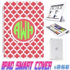 USA Custom Ipad Smart Cover Lattice Pattern by GeckoDesignz, $24.99  #ipad #case #design #monogram #custom