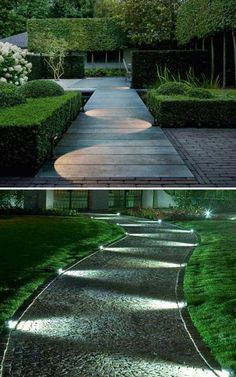 33 Perfect Walkway Landscape Lighting Ideas - Outdoor Lighting - Ideas of Outdoo. - 33 Perfect Walkway Landscape Lighting Ideas – Outdoor Lighting – Ideas of Outdoor Lighting – 33 Perfect Walkway Landscape Lighting Ideas 4 Driveway Lighting, Exterior Lighting, Sidewalk Lighting, Outdoor Garden Lighting, Outdoor Gardens, Garden Lighting Ideas, Lighting For Gardens, Small Gardens, Outdoor House Lights