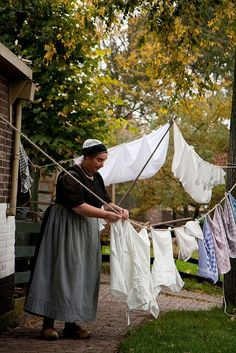hanging laundry what a pretty picture