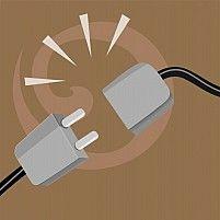 Illustration of a plug and socket