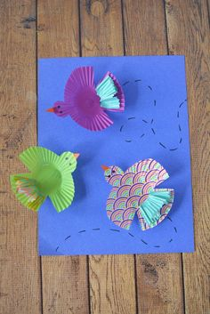 Cupcake Wrapper Birds Kids Craft