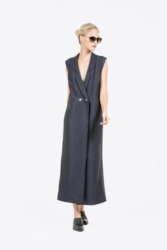 Vest Dress by Suzanne Rae #kickpleat #suzannerae
