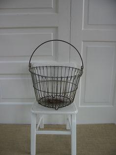 Vintage Metal Wire Egg Basket. $29.00, via Etsy.