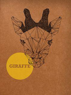 Honosi Rita, Giraffe, 2012, Graphic Illustration Printed on Notebook, 14.8cm x 21cm.