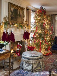 Design by Ellen Golden   Photography by Nancy Nolan   At Home in Arkansas   www.athomearkansas.com #christmas #antiques #elegantdecor #entertaining #frenchinspiration