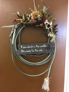 Excited to share this item from my etsy shop: Cowboy Rope Wreath's with Signs/Sayings (Prices will vary) homedecor entryway wreath ropes 334533078568233004 Country Decor, Rustic Decor, Farmhouse Decor, Vintage Western Decor, Western Outdoor Decor, Western Bathroom Decor, Western Wall Decor, Western Style, Sisal