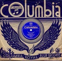 Columbia Royal Blue Record, 1935.