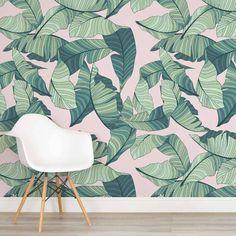 Papel de Parede Adesivo Folhas Tropical