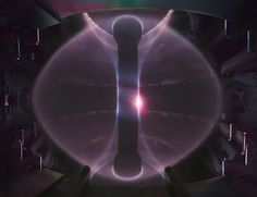 A plasma in the MAST spherical tokamak at Culham New analysis of experimental plasma containment devices suggests that making energy from nuclear fusion might not require the building of enormous, complicated fusion reactors.