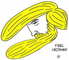 'Fidel Castrump', #viñeta de #AlenLauzán en Diario de #Cuba #HUMOR