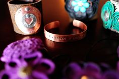 I love these bracelets with the stamped names!