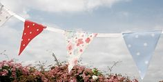 waterproof bunting flags are great for those hard to see strings on the tents.