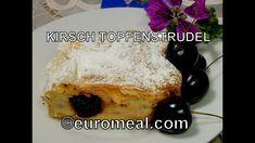 Kirschen - Topfenstrudel - süße Früchte und Quark in einer zarten Hülle ... French Toast, Breakfast, Food, Food Food, Morning Coffee, Essen, Meals, Yemek, Eten
