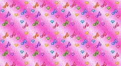 Animated Glitter Colorful Music Notes eBay Template FreeAuctionDesigns.com