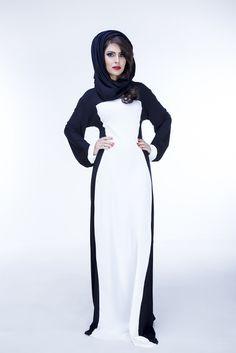 Illusion Abaya is tailored using Super Soft German Jersey fabrics to creating a flattering monochromatic look. A chiffon hijab accompanies the ensemble. Chiffon Hijab, Hijab Abaya, Hijab Dress, Abayas, Kaftans, Style Couture, Islamic Fashion, Modest Dresses, Modest Fashion