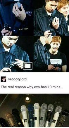 Why EXO has ten mics^.^