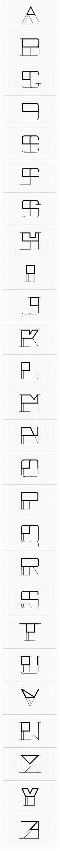 Abstract Modern Font