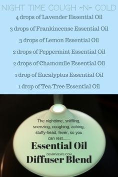 Special Night Time Blend cough and cold essential oils blend