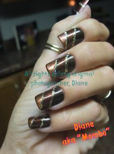 light brown, darker brown with silver in between
