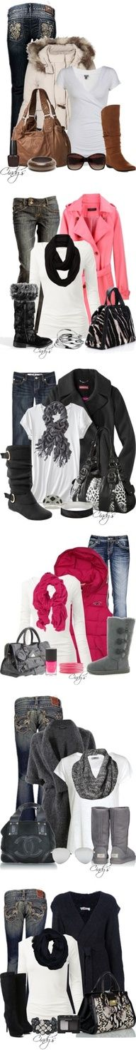 Perfect winter outfits for the cold weather . They are all soo cute & comfy ! :)
