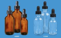 Glass Dropper Bottles, Amber Glass Droppers in Stock - ULINE