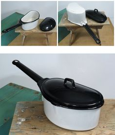 If you're looking for unusual or just plain handy enamel cookware then look no further. It was designed to pair with another pot and use one burner on the stovetop.