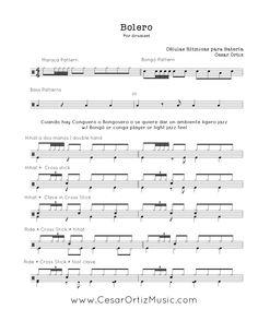 Bolero jazz para Batería | Cuban Grooves for drumset (page 1)