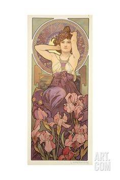 The Precious Stones: Amethyst, 1900 Giclee Print by Alphonse Mucha at Art.com
