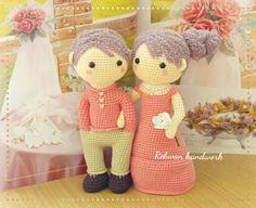 Mint & Berry Crochet wedding set